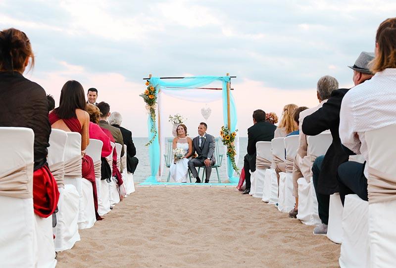 boda vistas mar mediterráneo
