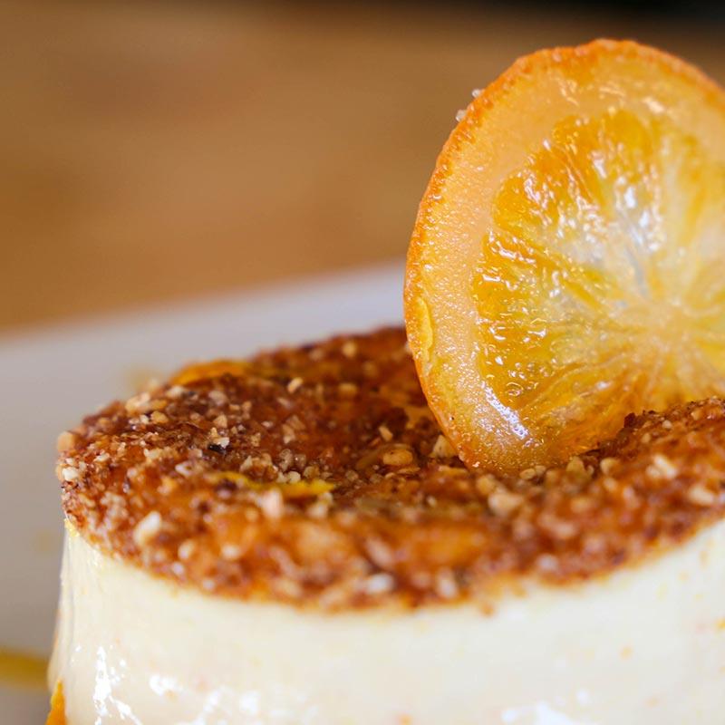 soufflé helado de mandarina imperial