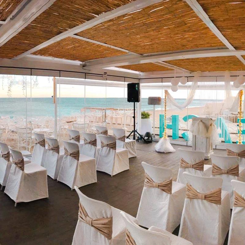 boda vistas al mar