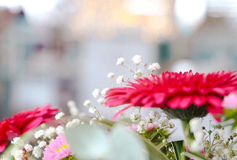 flores y decoración bodas nui beach