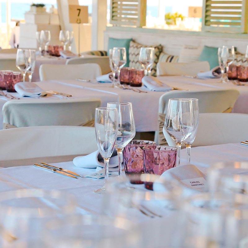 mesas boda decoración