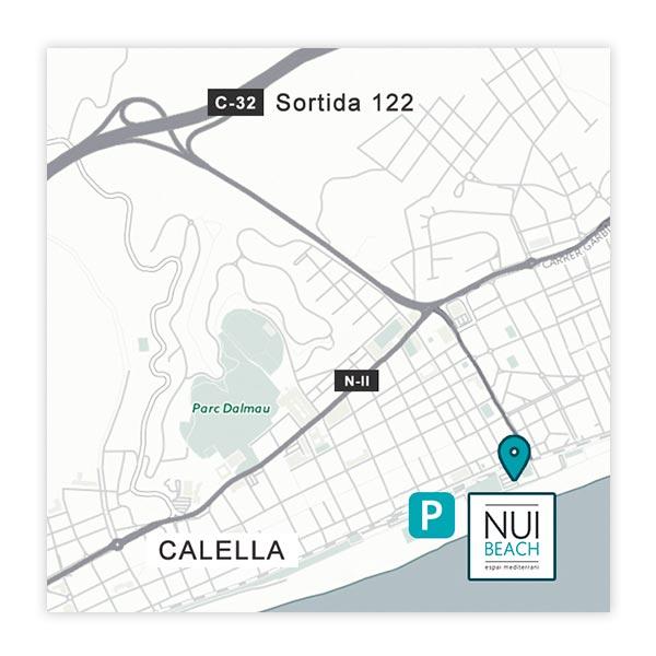 Mapa localización NUI Beach
