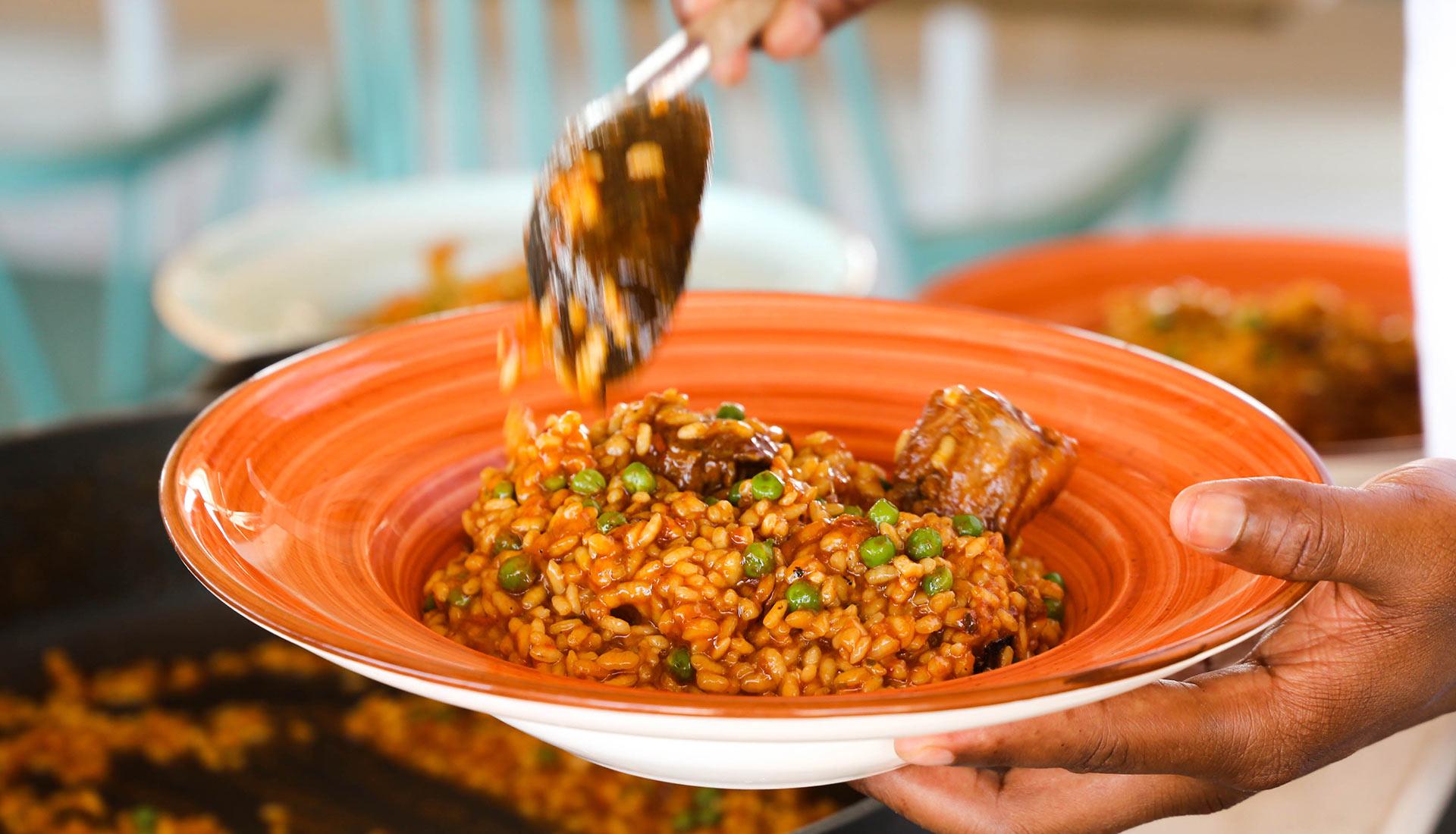 menú de migdia xiringuito calella